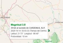 Reportan nuevo sismo en Tamasopo