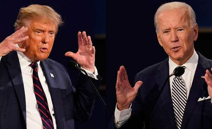 Trump evasivo y Biden errático en televisión