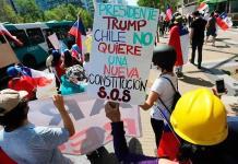 Manifestación en Chile a favor de la Constitución heredada de la dictadura