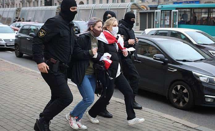 Policía en Bielorrusa dispersa protesta