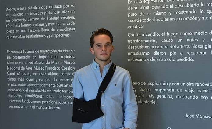 Bosco Gómez exhibe sus obras plásticas