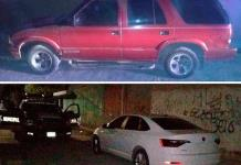 Recuperan 2 vehículos con reporte de robo