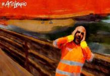 Trabajadores de limpia de Puebla recrean obras de arte