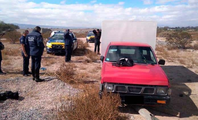 Recuperan camioneta robada desvalijada