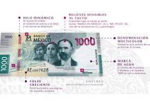 El nuevo billete de mil pesos a detalle