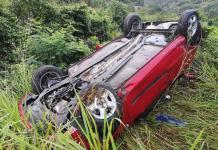 Se accidentan empleados del IMSS en la carretera Valles-Tampico