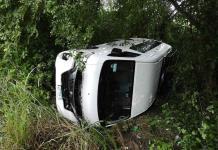Habitante de Axtla llevaba su camioneta a que le dieran mantenimiento y sufre un accidente
