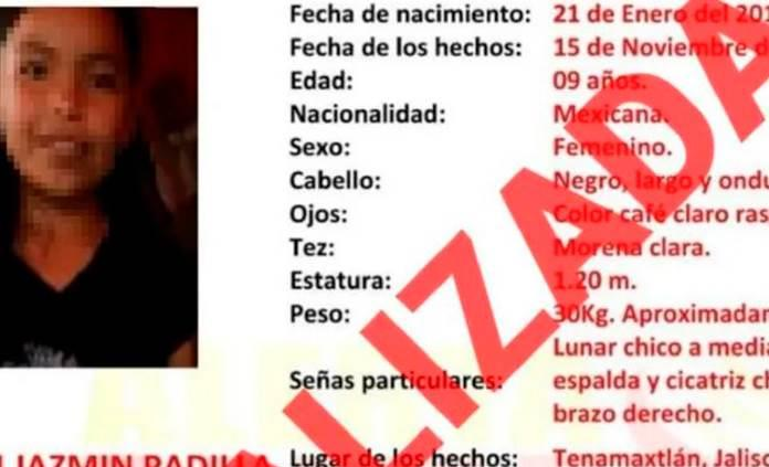 Encuentran en campo cuerpo de niña reportada desaparecida en Jalisco