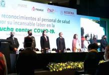 Entregan reconocimientos a más de 700 trabajadores de salud en SLP; 4 reciben además la presea Miguel Hidalgo