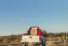 Virgen peregrina recorre colonias de Matehuala