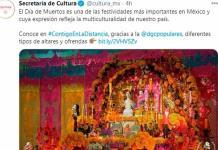 Secretaría de Cultura publica mensaje de Día de Muertos... en Navidad