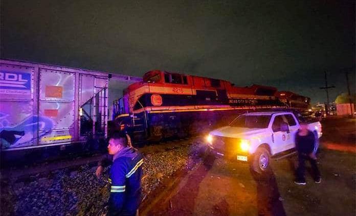 Descarrila tren en las vías México-Laredo