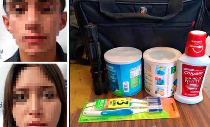 Por robo en una farmacia, pareja es arrestada