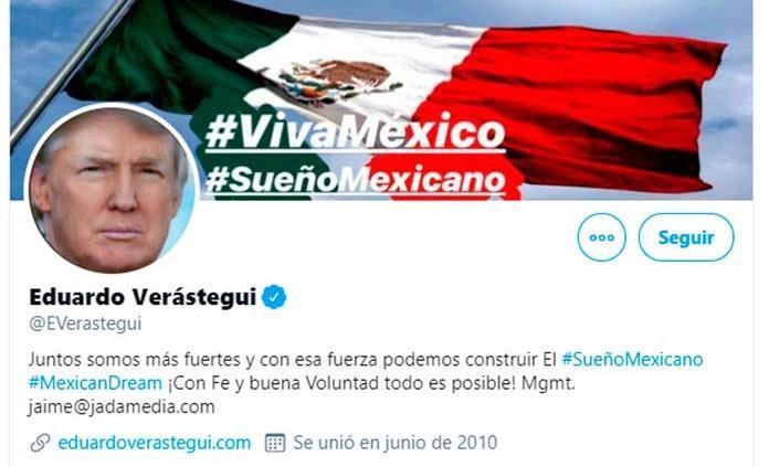 Sustituye Eduardo Verástegui su foto por una de Trump