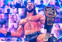 Drew McIntyre, campeón de WWE, positivo a coronavirus