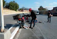 Motociclista resulta herido en un accidente