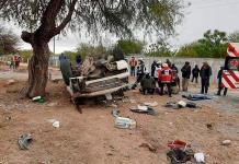 Seis heridos, al accidentarse paisanos de regreso a EU