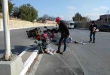 Motociclista sufre accidente en el bulevar Río Santiago