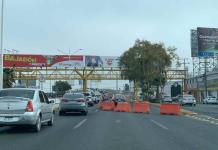 Por obras en puente Pemex, reducen circulación en carriles de Salvador Nava