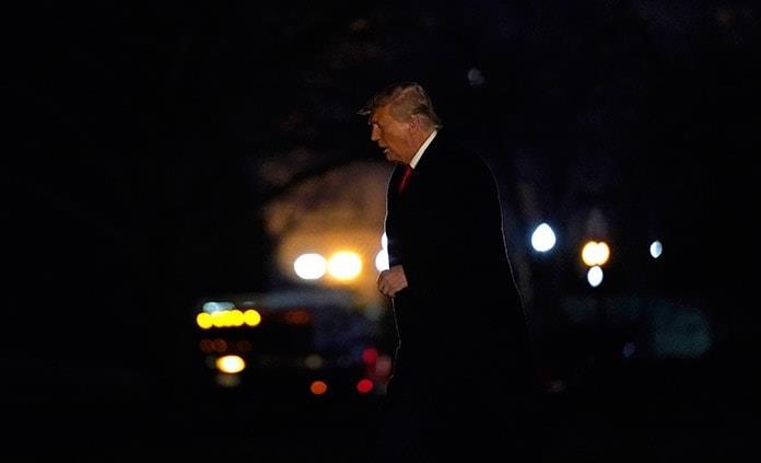 Trump aislado y en silencio ante segundo juicio político