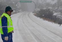 Frente frío 26 provocó nevadas