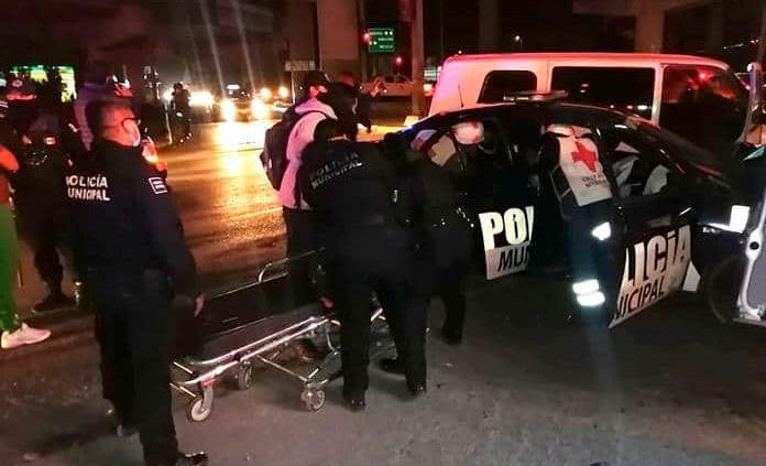 Policías de Soledad resultan lesionados durante accidente vial
