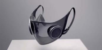 Presentan cubrebocas transparente que se ilumina y tiene altavoz