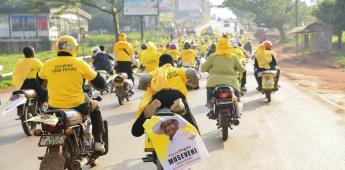 Presidente de Uganda gana sexto periodo; denuncian fraude