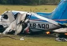 Se desploma aeronave en Comitán, Chiapas
