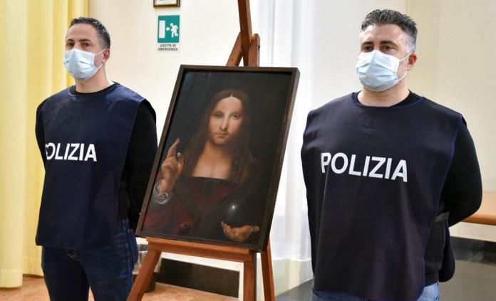 Policía encuentra réplica de Salvator Mundi de Leonardo