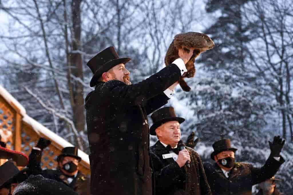 Marmota predice más condiciones invernales para EU en medio de nevada