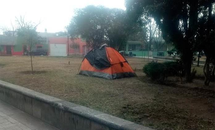 Instalan carpa en Parque Guerrero