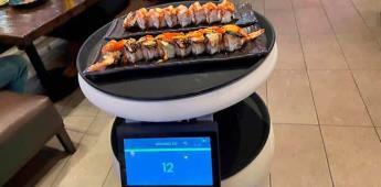 Sashimi de atún, ¡y que me lo traiga el robot, por favor!