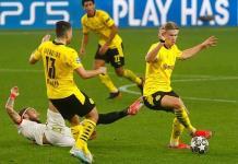 Haaland y el Dortmund someten 3-2 al Sevilla