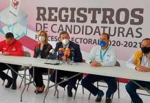 Acompañado de líderes del PAN, PRI y PRD, registra Octavio Pedroza su candidatura ante Ceepac