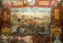 Pompeya recupera un gran fresco con paisajes egipcios