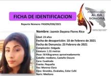 Activan Protocolo Alba por desaparición de Dayana Flores en Sonora