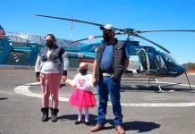 Dan paseo en helicóptero a niña con cáncer terminal en Puebla