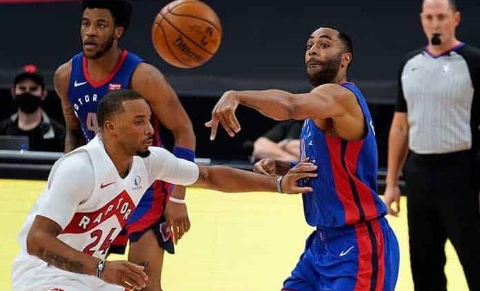 Pistons vencen a unos diezmados Raptors