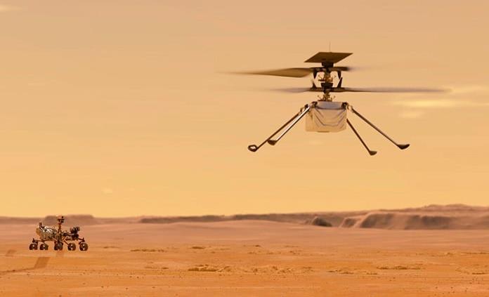 El Ingenuity hará su primer vuelo en Marte a partir del 11 de abril