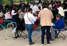 Impera otra vez el desorden en Mexquitic, para aplicación de la segunda dosis de vacuna