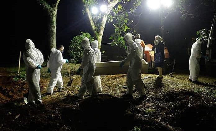 Brasil registra un nuevo máximo diario de 4,249 muertes por covid-19