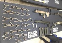 Detienen a cinco personas por portación de armas de fuego y equipo táctico, así como por privación ilegal de la libertad