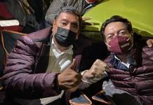 Salen morenistas encabezados por Delgado y Macedonio rumbo a TEPJF