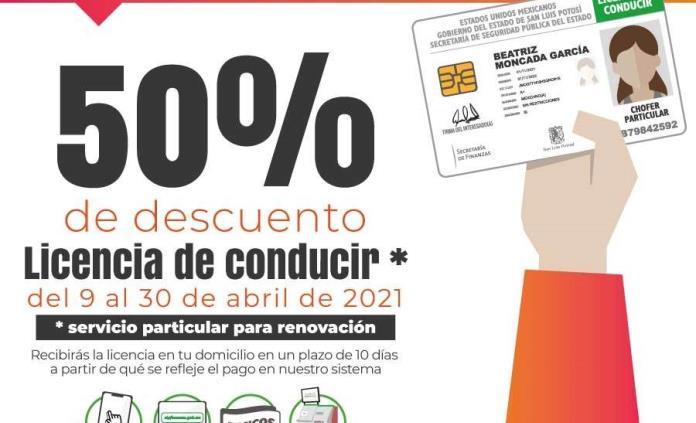 Ofrece Finanzas 50% de descuento en renovación de licencias de conducir