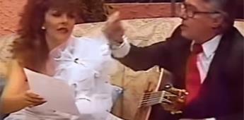 Reviven video de Enrique Guzmán acosando a Verónica Castro