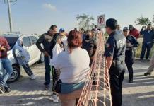 Bloquean acceso a Logistik II por falta de agua