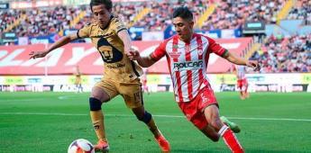 Pumas gana con gol de Vigón al Necaxa