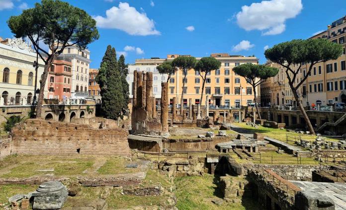 Se podrá pasear en los restos arqueológicos de Largo Argentina en Roma