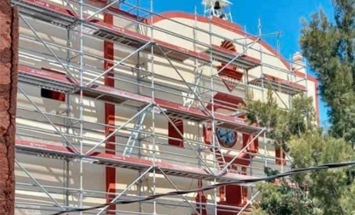 MSX restaura templo en Cerro de San Pedro